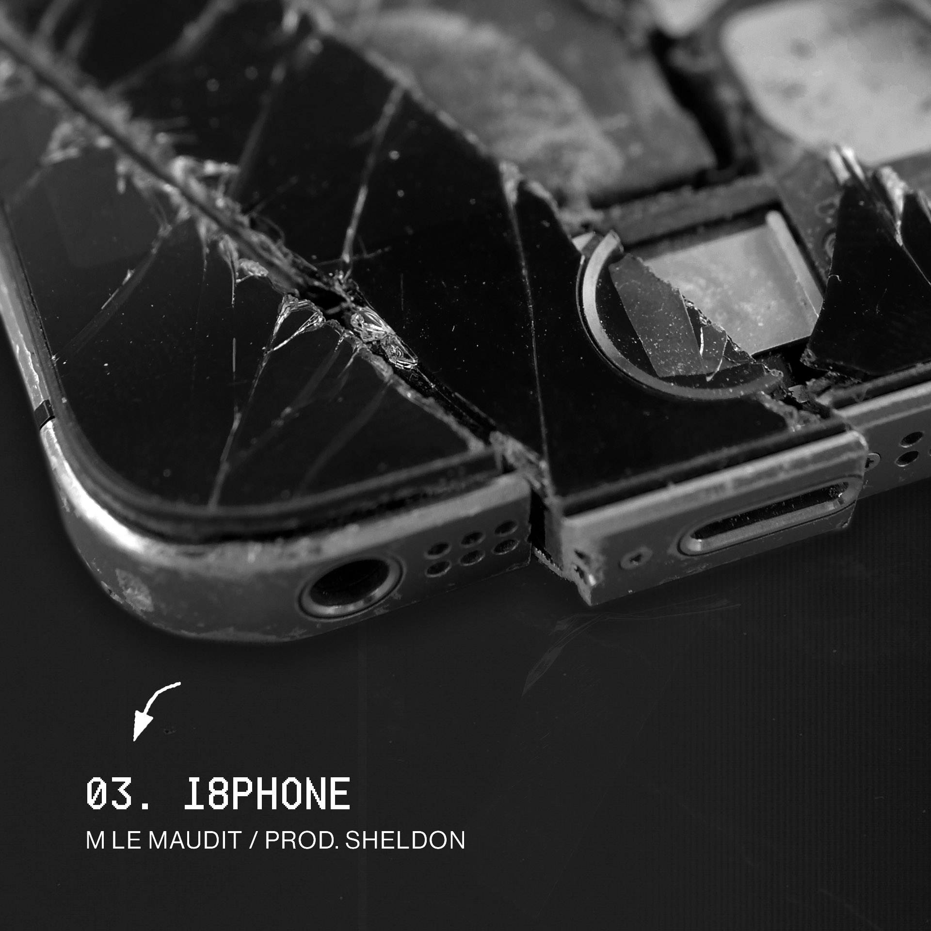 Broken iPhone asset for Inspire, created by Perimetre studio a creative studio based in Paris