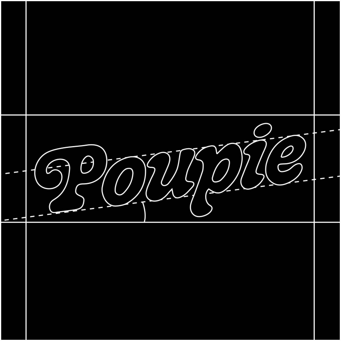 Logo of Poupie's music video produced by Perimetre, a creative studio based in Paris