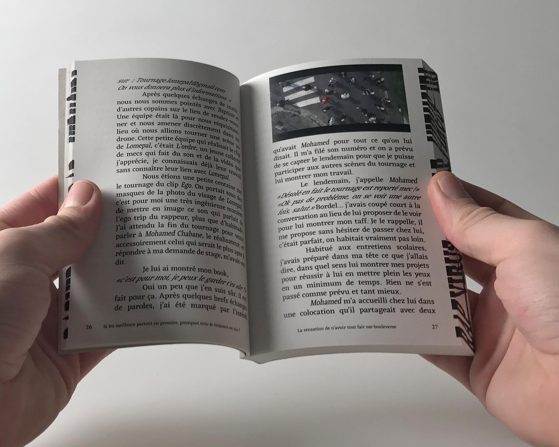 """Camille Roquet's book """"Tout doit disparaître"""", by Perimetre a creative studio based in Paris"""