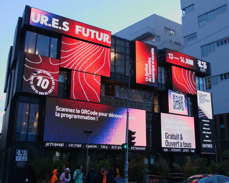 Graphic design and motion design for futur.e.s festival, made by Perimetre, a creative studio based in Paris