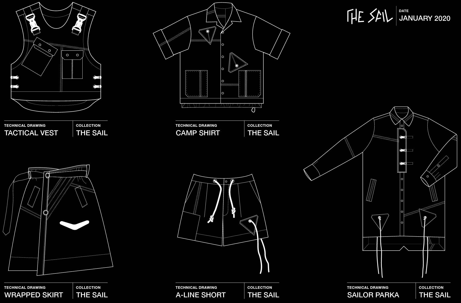 Fashion drafts by Perimetre a creative studio based in Paris