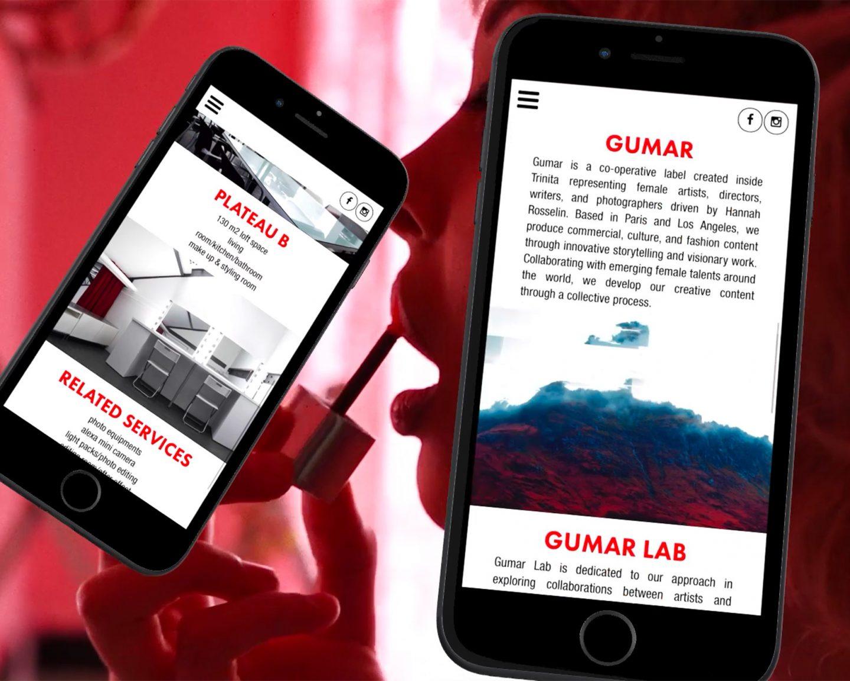 Mobile website of Trinita by Perimetre a creative studio based in Paris