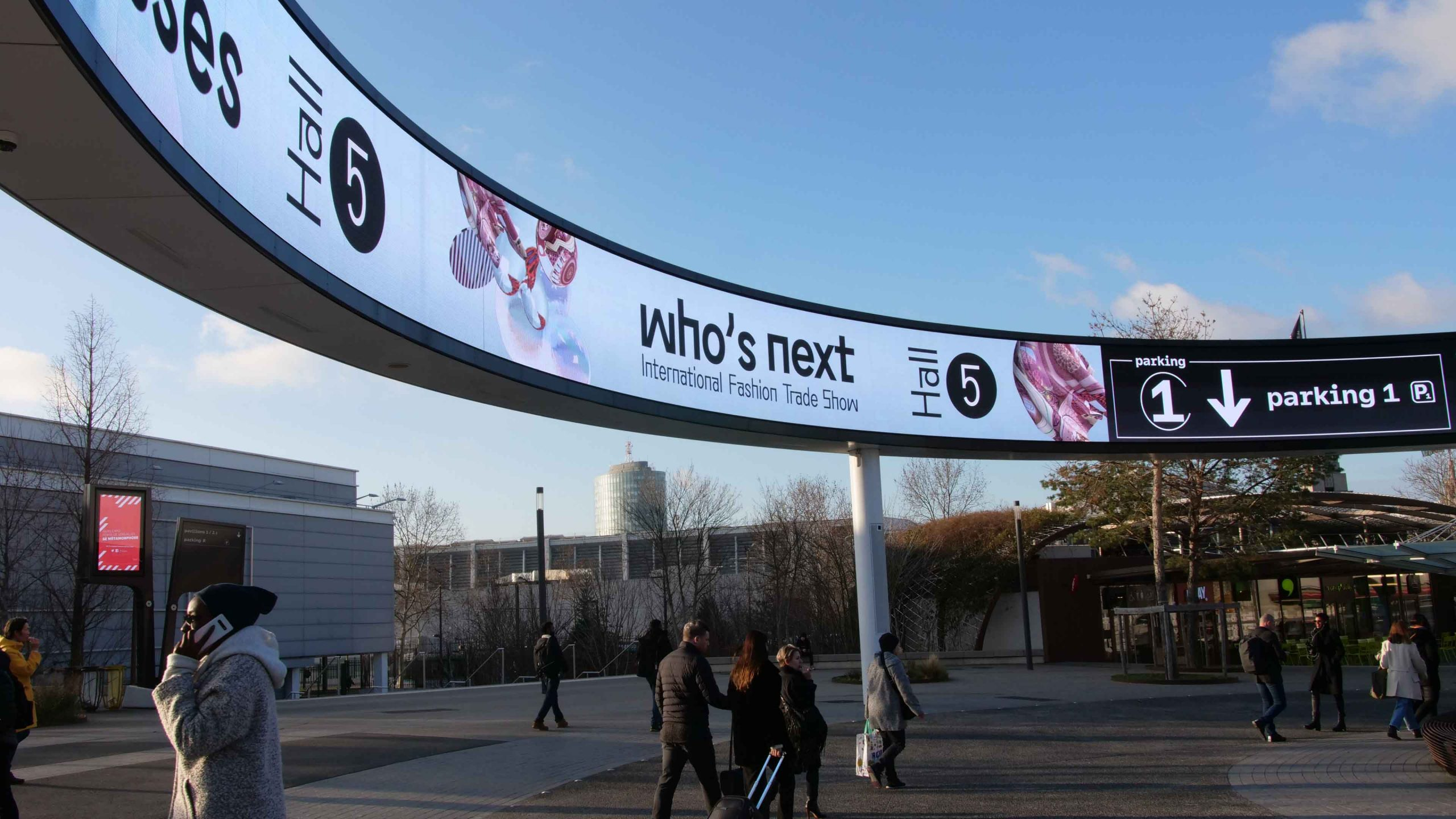 Banner of Who's Next 2020 created by Perimetre Studio, a creative studio based in Paris