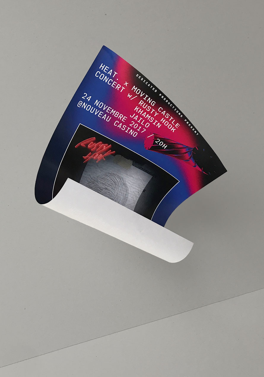 Graphic design asset of Heat made by Perimetre creative studio based in Paris